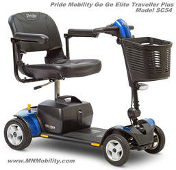 Pride mobility go go elite traveller plus mobility scooter